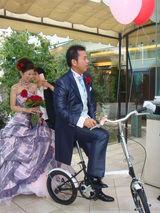 自転車入場!